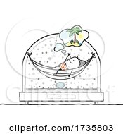 01/26/2021 - Stick Man On A Hammock In A Snowglobe