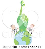 Poster, Art Print Of Hand Emerging From Earth With People