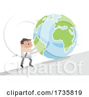 01/27/2021 - Businessman Pushing Earth Uphill