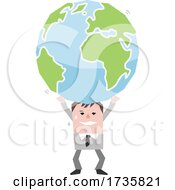 Poster, Art Print Of Man Holding Up A Heavy Earth