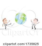 Poster, Art Print Of Business Men Kicking Earth