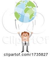 Poster, Art Print Of Man Tossing Up Earth