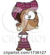 Cartoon Jamaican Girl
