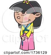 Cartoon Korean Girl