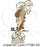 Cartoon Marie Antoinette Holding Cake