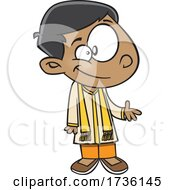 Cartoon Indian Boy by toonaday