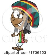 Cartoon Jamaican Boy
