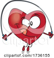 Cartoon Heart Skipping Rope