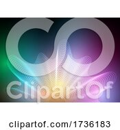 Abstract Banner With Halftone Dots Design