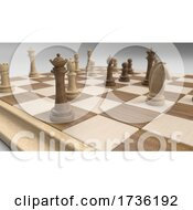 Classic Chess Board And Pieces