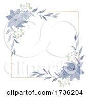Watercolour Painted Floral Border Design