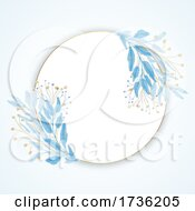 Elegant Hand Painted Floral Border Design