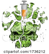 Poster, Art Print Of Virus Earth Pricked With Vaccine Needles