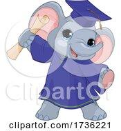 Cute Baby Elephant Graduate