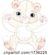 02/02/2021 - Cute White Teddy Bear Jumping