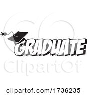 Black And White Mortar Board On Graduate Text