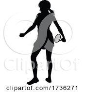 02/02/2021 - Tennis Silhouette Sport Player Woman