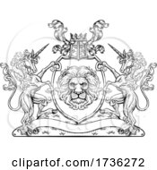 Crest Unicorn Coat Of Arms Lion Family Shield Seal