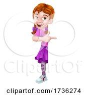 02/02/2021 - Kid Cartoon Girl Child Pointing Sign