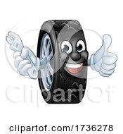02/02/2021 - Tyre Cartoon Car Mechanic Service Mascot