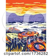 Petrified Forest National Park In Navajo And Apache Counties In Arizona WPA Poster Art