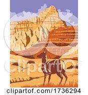 Badlands National Park In South Dakota WPA Poster Art