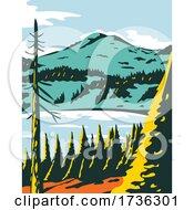 Lassen Volcanic National Park In California WPA Poster Art by patrimonio