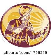 Logo Welder Side Hand Face Mask RETRO