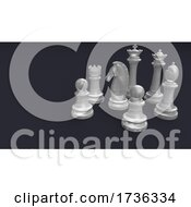 Poster, Art Print Of Classic Chess Board And Pieces