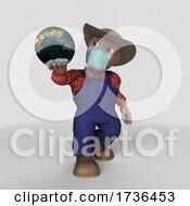 Poster, Art Print Of 3d Farmer Character