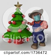 Poster, Art Print Of 3d Farmer Character