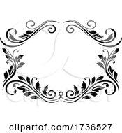 Black And White Floral Frame