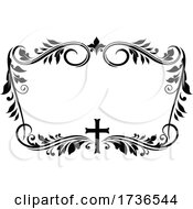 Floral Frame With A Cross