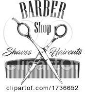 Dark Gray Barber Shop Design
