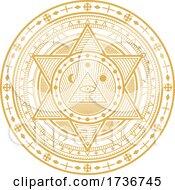 Golden Yellow Magic Alchemy Occult Religion Astrology Mystic Symbol