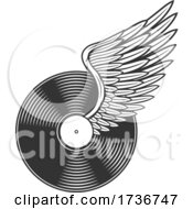 Rock And Roll Winged Vinyl Record