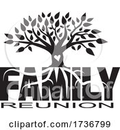 Poster, Art Print Of Tree With Roots On Family Reunion Text
