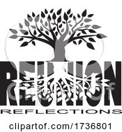 Poster, Art Print Of Tree Over Reunion Reflections Text