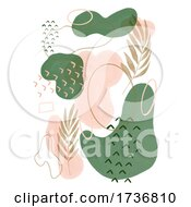 Hand Painted Watercolour Abstract Design Background