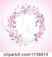 Hand Painted Floral Circular Border Design