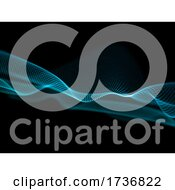 3D Abstract Flow Background With Particle Wave Design