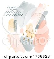 Abstract Background With A Modern Hand Painted Watercolour Design
