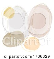 Abstract Hand Painted Watercolour Design Background In Earth Tones