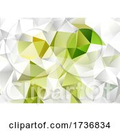 Green And White Low Poly Abstract Design