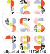 Elegant Numeral Symbols In Retro Style