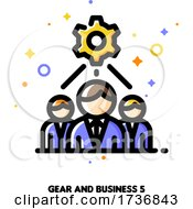 02/14/2021 - Icon Of Business Team And Gear For Technical Project Development Optimization Concept