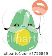 Cute Avocado Fruit With Balloon