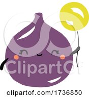 Cute Fig Fruit With Balloon