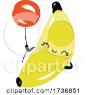 Cute Banana Fruit With Balloon