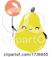 Cute Pear Fruit With Balloons